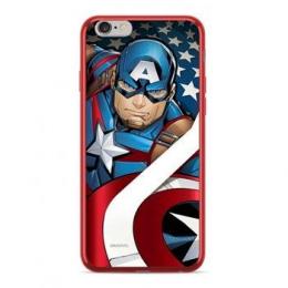 MARVEL Captain America 004 Zadní Kryt pro iPhone XS Max Red