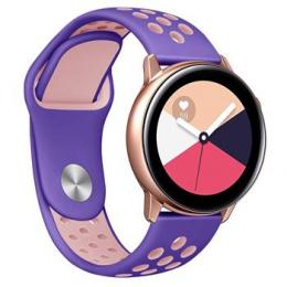 Handodo Double Silikonový Pásek pro Samsung Gear 46mm Purple/Pink (EU Blister)