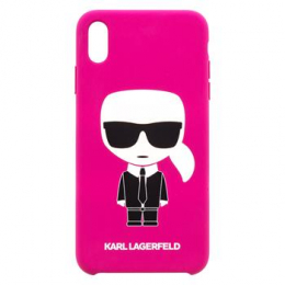 KLHCI65SLFKFU Karl Lagerfeld Body Iconic Kryt pro iPhone XS Max Fushia