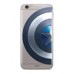 MARVEL Captain America 006 Zadní Kryt pro Huawei Y6 Prime 2018 Transparent