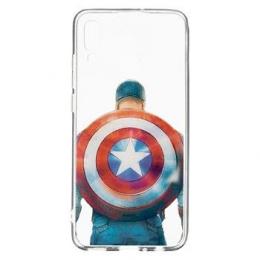 MARVEL Captain America 002 Zadní Kryt Transparent pro Samsung Galaxy A20e