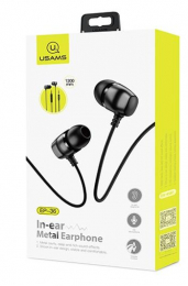 USAMS EP-36 In-Ear Steel Stereo Headset 3,5mm Black