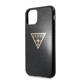GUHCN65SGTLBK Guess Solid Glitter Zadní Kryt pro iPhone 11 Pro Black (EU Blister)
