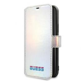 GUFLBKN65BLD Guess Iridescent Book Pouzdro pro iPhone 11 Pro Silver (EU Blister)
