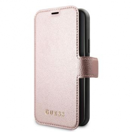 GUFLBKSN65IGLR Guess Iridescent Book Pouzdro pro iPhone 11 Pro Black/Rose (EU Blister)