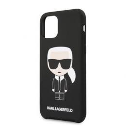 KLHCN61SLFKBK Karl Lagerfeld Iconic Silikonvý Kryt pro iPhone 11R Black (EU Blister)