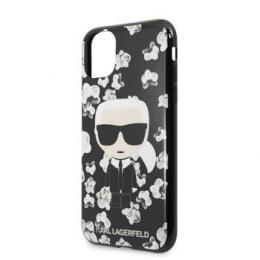 KLHCN65FLFBBK Karl Lagerfeld TPU Flower Kryt pro iPhone 11 Pro Max Black