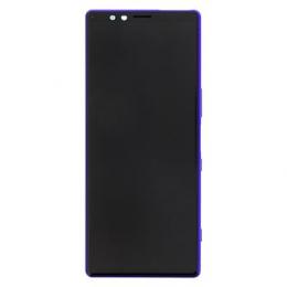 LCD Display + Dotyková Deska + Přední Kryt Purple Sony J9110 Xperia 1 (Service Pack)