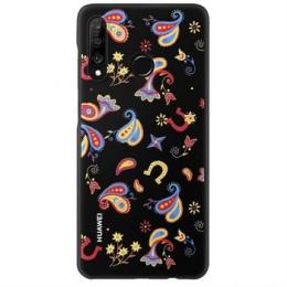 Huawei Original TPU Protective Kryt pro Huawei P30 Lite Flower Black