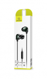 USAMS EP-40 In-Ear Stereo 1.2m Headset 3,5mm Black