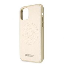 GUHCN65RSSASGO Guess Saffiano Zadní Kryt pro iPhone 11 Pro Max Gold