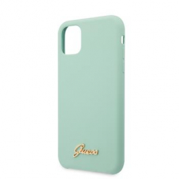 GUHCN65LSLMGG Guess Silicone Vintage Zadní Kryt pro iPhone 11 Pro Max Green (EU Blister)