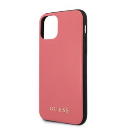 GUHCN65PUMPI Guess PU Leather Zadní Kryt pro iPhone 11 Pro Max Pink