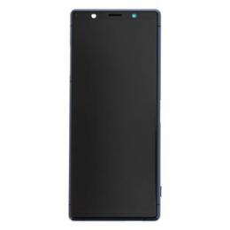 LCD Display + Dotyková Deska + Přední Kryt Sony J8210 Xperia 5 Blue (Service Pack)