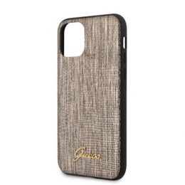 GUHCN65PCUMLLIGO Guess Lizard Zadní Kryt pro iPhone 11 Pro Max Gold