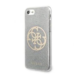 GUHCI8PCUGLLG Guess Glitter 4G Circle Kryt pro iPhone 8/SE2020 Light Grey