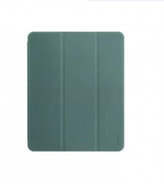 USAMS US-BH589 Kožený ochranný Kryt pro Apple iPad Pro 2020 12,9 Dark green