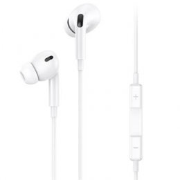 USAMS EP-41 In-Ear Stereo Headset 3,5mm 1,2m White