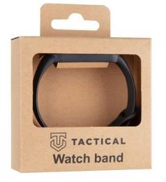 Tactical 661 Silikonový Řemínek pro Xiaomi Mi Band 5/6 Black