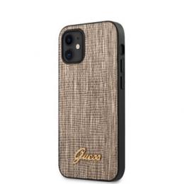 GUHCP12SPCUMLLIGO Guess Lizard Zadní Kryt pro iPhone 12 mini 5.4 Gold