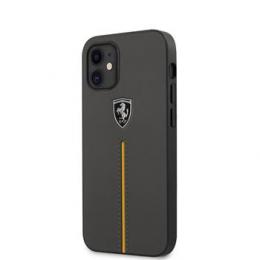 FEOMSHCP12SDG Ferrari Off Track Kožený kryt pro iPhone 12 mini 5.4 Dark Grey