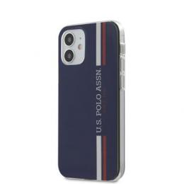 USHCP12SPCUSSNV U.S. Polo PC/TPU Tricolor Vertical Stripes Kryt pro iPhone 12 mini 5.4 Navy