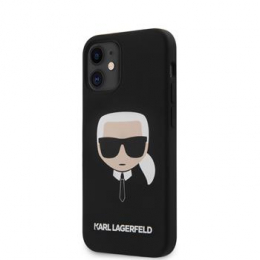 KLHCP12SSLKHBK Karl Lagerfeld Head Silikonový Kryt pro iPhone 12 mini 5.4 Black