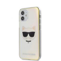 KLHCP12SCIR Karl Lagerfeld PC/TPU Choupette Head Kryt pro iPhone 12 mini 5.4 Iridescent