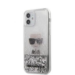 KLHCP12SGLIKSL Karl Lagerfeld Liquid Glitter Iconic Kryt pro iPhone 12 mini 5.4 Silver