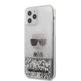 KLHCP12LGLIKSL Karl Lagerfeld Liquid Glitter Iconic Kryt pro iPhone 12 Pro Max 6.7 Silver