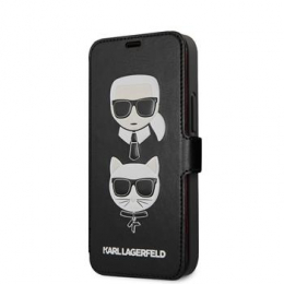 KLFLBKSP12SFKICKC Karl Lagerfeld Heads Book Pouzdro pro iPhone 12 mini 5.4 Black