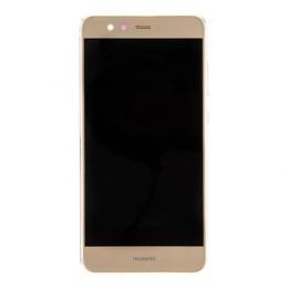 Huawei P10 Lite LCD Display + Dotyková Deska + Přední Kryt + Baterie Gold