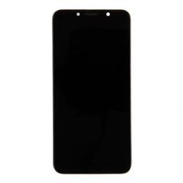 Motorola E6 Play LCD Display + Dotyková Deska + Přední Kryt Black (Service Pack)
