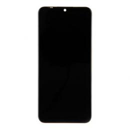 Motorola E6 Plus LCD Display + Dotyková Deska + Přední Kryt Black (Service Pack)