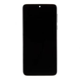 Motorola One Macro LCD Display + Dotyková Deska + Přední Kryt Black (Service Pack)