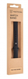 Tactical 714 Silikonový Řemínek pro Fitbit Inspire 2 Black