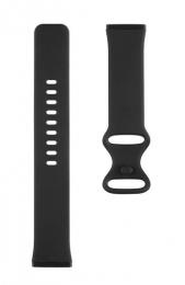Tactical 718 Silikonový Řemínek pro Fitbit Sense Black