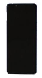 LCD Display + Dotyková Deska + Přední Kryt Blue Sony AS52 Xperia 5 II (Service Pack)
