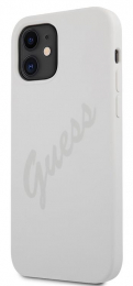 GUHCP12SLSVSCR Guess Silicone Vintage Zadní Kryt pro iPhone 12 mini 5.4 Cream