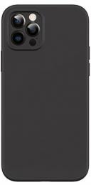 USAMS US-BH728 Magnetic Liquid Silicon Kryt pro iPhone 12 Mini Black