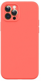 USAMS US-BH728 Magnetic Liquid Silicon Kryt pro iPhone 12 Mini Orange