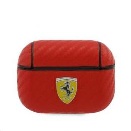 FESAPCARE Ferrari Carbon PC/PU Pouzdro pro Airpods Pro Red