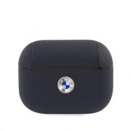 BMAPSSLNA BMW Signature Kožené Pouzdro pro AirPods Pro Navy