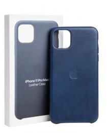 MX0G2ZM/A Apple Kožený Kryt pro iPhone 11 Pro Max Midnight Blue (Pošk. Balení)