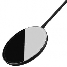 Baseus WXJK-F01 Simple Mini Magnetic Bezdrátová Nabíječka Black