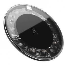 Baseus WXJK-BA02 Simple Bezdrátová Nabíječka 15W Transparent