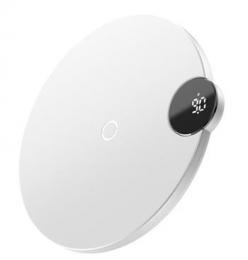 Baseus WXSX-02 Digital LED Bezdrátová Nabíječka White