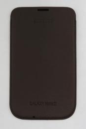 EFC-1J9LD Samsung Kožené Pouzdro pro Note 2 (N7100) Dark Brown