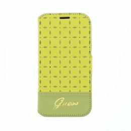 GUFLBKS4MPEY Guess Gianina Book Kožené Pouzdro Yellow pro Samsung i9195 Galaxy S4mini