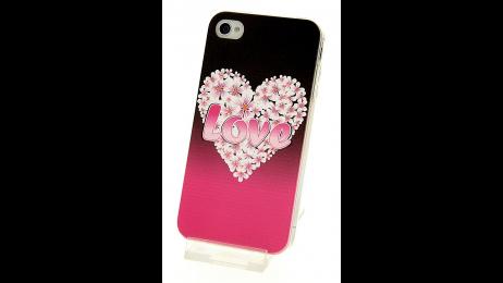 Silikonové pouzdro pro iPhone 4 a iPhone 4S květinové srdce